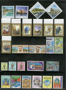 UAE Stamps mint+used collection stuffed with sets & souvenir sheets