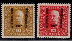 Bosnia Herzegovina Scott B11-B12  MH* semi-postal stamp set
