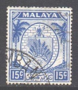 Malaya Negri Sembilan Scott 48 - SG52, 1949 Arms 15c used