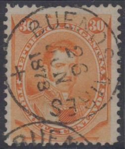 ARGENTINA 1878 ALVEAR Sc 24 CHOICE BUENOS AIRES + 26 JUN 1873 Cds F,VF SCV$25+