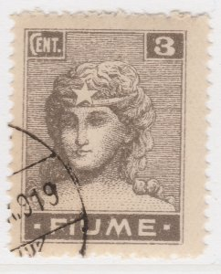 Fiume 1919 3c Very Fine Used Stamp A21P11F4960