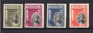 Sc214-17  Sg323-26  - Zanzibar - 1936 - MH - F/VF  superfleas  cv$42