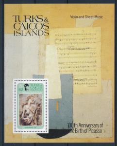 [35465] Turks & Caicos Islands 1981 Pablo Picasso Music Sheet MNH