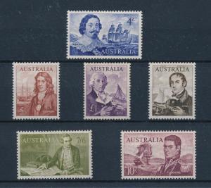 [48579] Australia 1963 Definitives Sfafarer explorers Cook Tasman Boats MLH