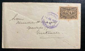 1897 Retalhuleu Guatemala Cover To Guatemala City