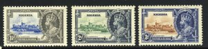 NIGERIA King George V 1935 Royal Silver Jubilee Group SG 30 to SG 32 MINT