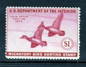 RW10 $1 Duck Stamp (Mint NEVER HINGED - perfect gum) cv$140.00