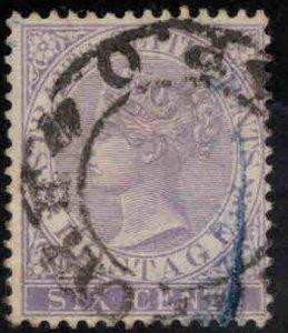 Straits Settlements Scott 48 Used  Queen Victoria stamp CA wmk