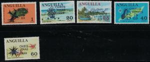 Anguilla SC79-83 Overprint-Christmas 1969 w/VariousChristmasDesigns MNH 1969