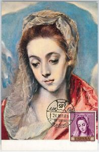MAXIMUM CARD  - ART : El Greco - SPAIN 1961