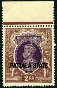 PATIALA-1937-38  2r Purple & Brown Sg 93 UNMOUNTED MINT V30004