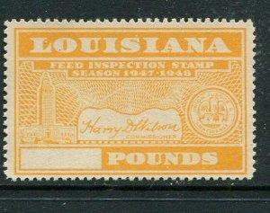 Louisiana Feed Tax #FE92 MNH