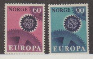 Norway Scott #504-505 Stamps - Mint NH Set