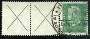 Germany 1928 Se-Tenant,  Presidents, Mi. W 27.2 VF ++ used