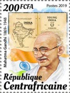 C A R - 2019 - Mahatma Gandhi - Perf Single Stamp - M N H