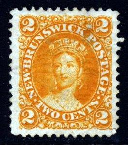 NEW BRUNSWICK CANADA Queen Victoria 1863 2 Cents Orange SG 10 MNG