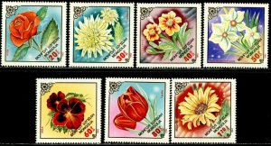 MONGOLIA Sc#1315-1321 1983 Flowers Complete Set OG Mint NH