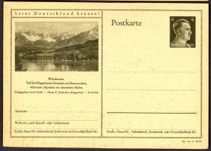 GERMANY 1941 6pf HITLER HEAD Learn to Know Germany Postal Card 41-3-1-B24 Unused