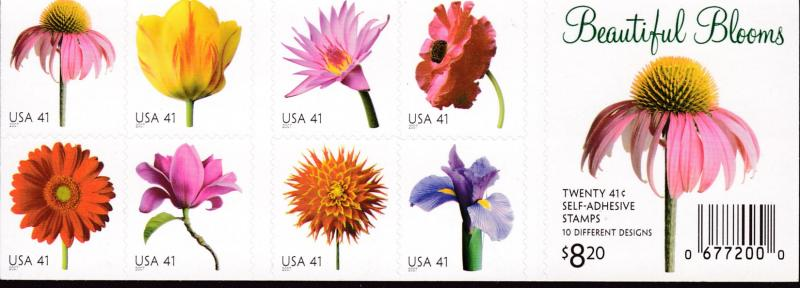 United States 2007 Beautiful Blooms Stamp Booklet VF/NH