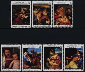 Turks & Caicos 757-65 MNH Art, Paintings, Christmas, Madonna & Child, Horse