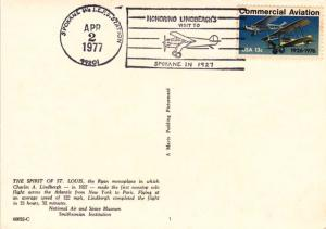 United States #1684 Lindbergh Visit to Spokane Cancel on Post Card