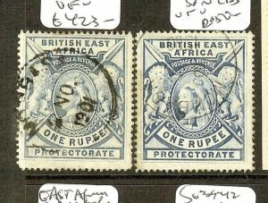BRITISH EAST AFRICA  (P2205B)  QV LION 1R SG92A-92B  VFU