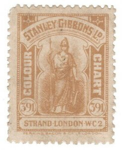 (I.B) Cinderella Collection : Stanley Gibbons Colour Chart (Buff 38)