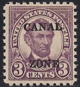 CANAL ZONE 98 3 cent Abraham Lincoln (1926-27) Stamp Mint OG NH VF