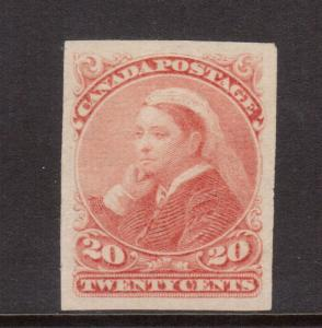Canada #46a XF Imperforate Mint Single **With Certificate**