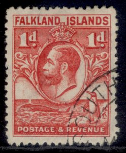 FALKLAND ISLANDS GV SG117, 1d scarlet, FINE USED.