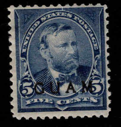 GUAM Scott 5 MH* 19th century overprint CV $32.50