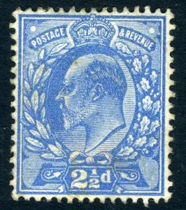 1911 2½d Dull Blue  Sg 284  AVERAGE  MOUNTED MINT V72243