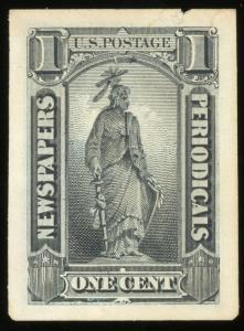 1885 Newspaper Proof ~  PR81P2a ~ Cat $500