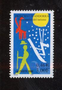 ANDORRA FRENCH 2000 MNH SC.526 Tourism Day