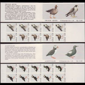 NORWAY 1981 - Scott# 776A-8A Booklets-Birds NH