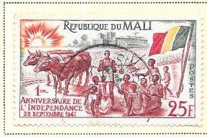 Republic of Mali #15 25fr  (U) CV $0.40