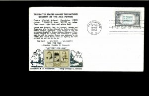 1943 FDC Overrun Nations Greece Washington DC
