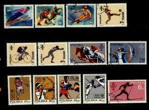 Poland 1976 -80 Stamp Selection Sets & Short Set 13 Stamps Unused CTO