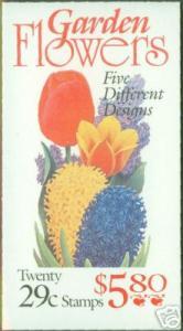 USA Scott 2764a Garden Flower Booklet BC90 CV $12.00