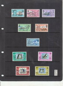 BRITISH ANTARCTIC TERRITORY 1979 PENGUINS  + 1980 GEOGRAPHICAL  UMM/MNH