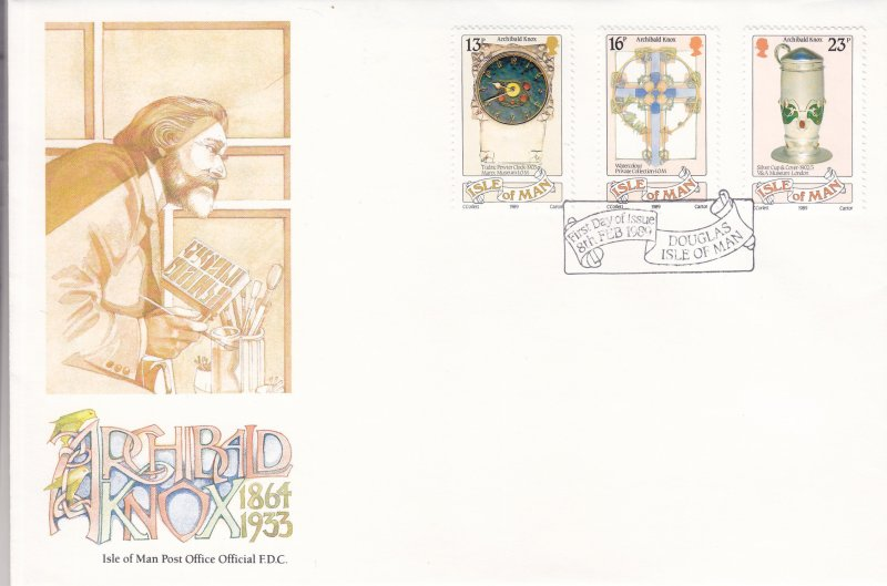 1989, Isle of Man: Archibald Knox, FDC (S18800)