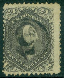 EDW1949SELL : USA 1862 Sc #78 Used Fresh Sound w/numeral '5'  PSAG Cert Cat $350