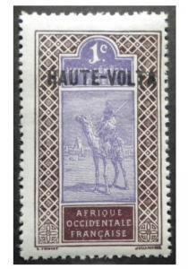 FRENCH UPPER SENEGAL COLONY 1914. SCOTT # 18.  MINT. OVERPRINTED