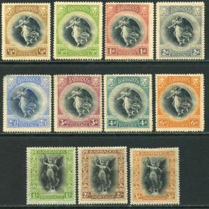BARBADOS Sc#140-150 SG201-211 1920 Victory Set OG Mint Hinged