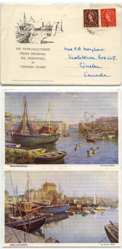 Great Britain - 1954 Souvenir Postal Item Oil Paintings