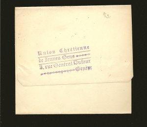 Switzerland Postmarked Geveve 1917 Newspaper Wrapper