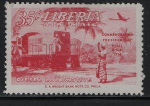 LIBERIA, C84,  HINGED, 1954, Commemorating presidential visit