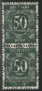 Germany AM Post Scott # 597, unused, no gum, pair