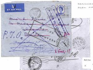 U182 1955 Malta Returned from Malta *LIVERPOOL* Air Mail {samwells-covers}PTS