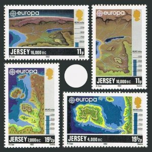 Jersey 285-288,MNH.Michel 278-281. EUROPE CEPT-1982.Maps:formation of Chanel Isl